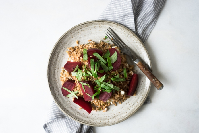 Toasted Farro Salad    TENDING the TABLE