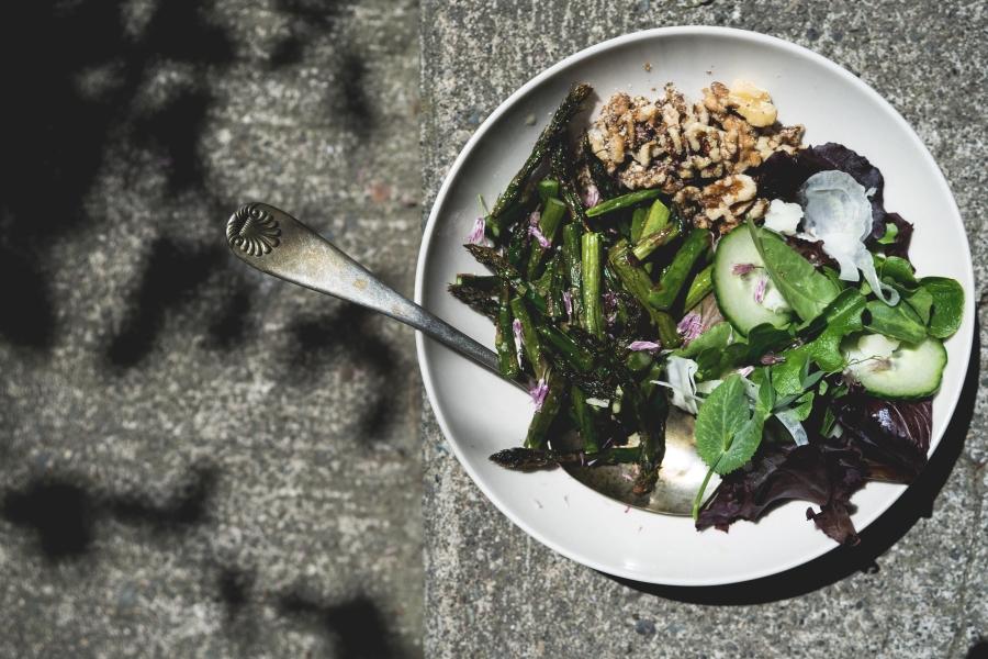 Roasted Asparagus Salad | TENDING the TABLE