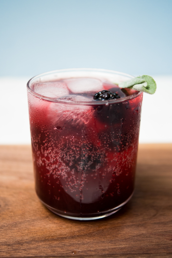 Blackberry Sage Soda | TENDING the TABLE
