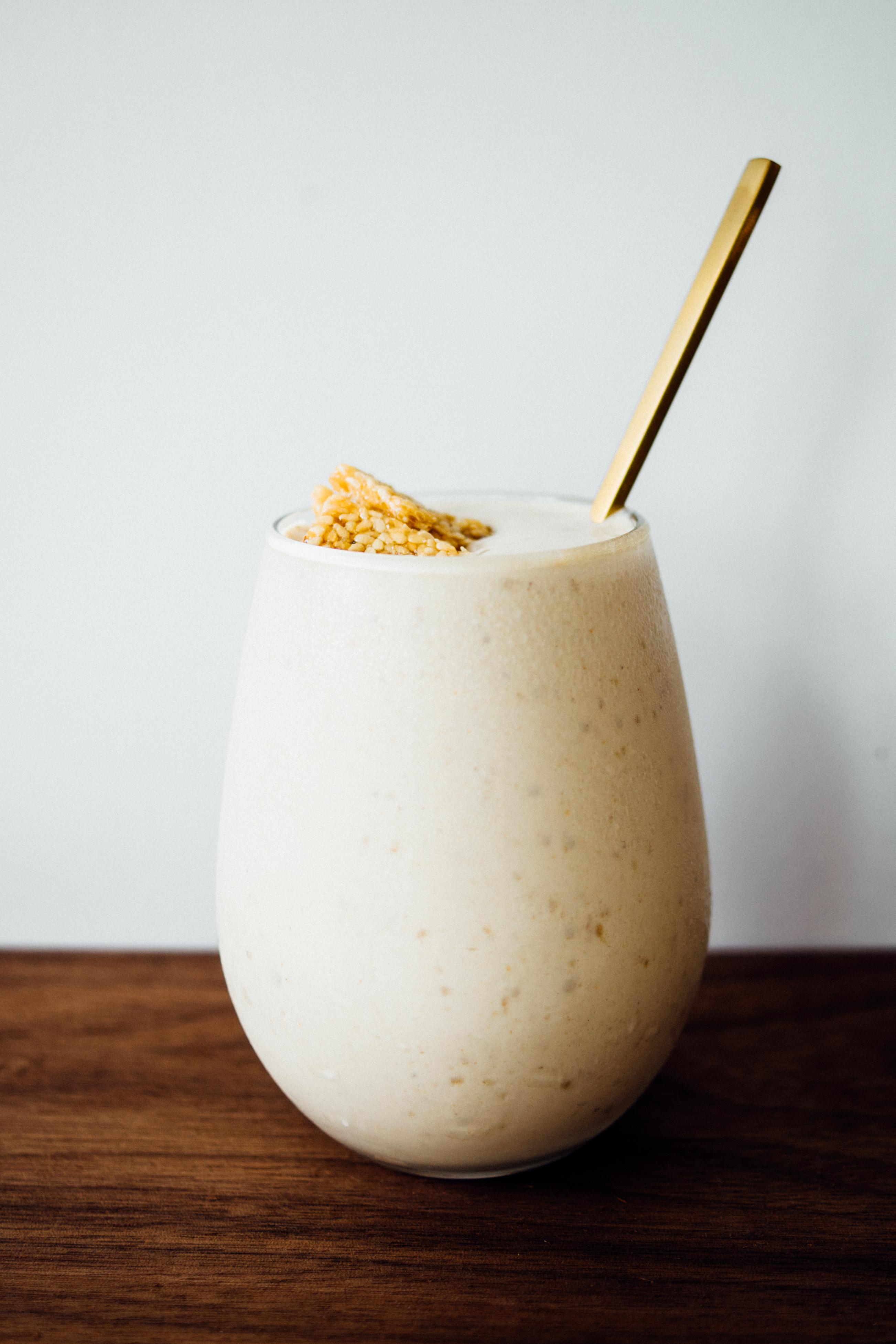Toasted Sesame and Honey Milkshake | TENDING the TABLE