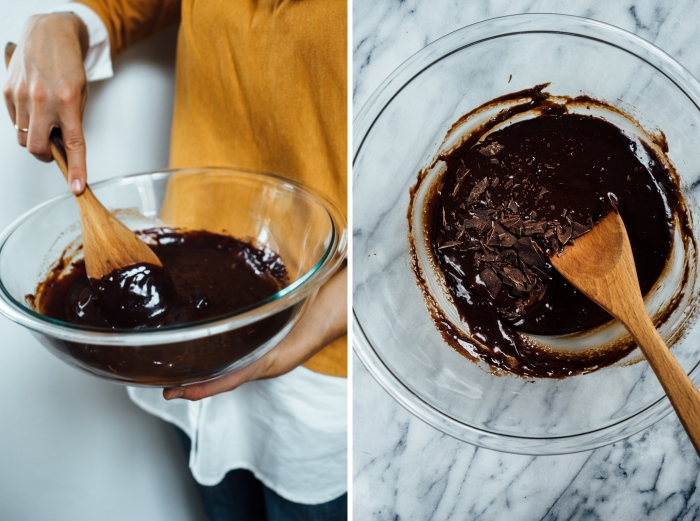 Chocolate Brownies with Bourbon Pumpkin Swirl (Dairy Free) | TENDING the TABLE