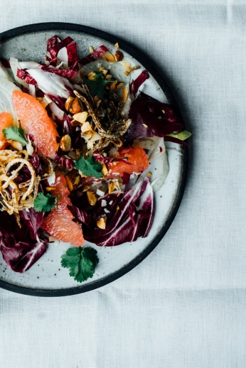 Thai Style Grapefruit and Radicchio Salad | TENDING the TABLE