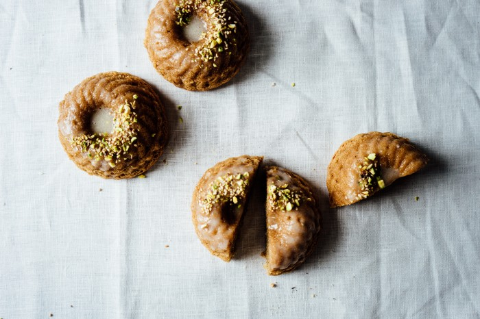 Lemon Tahini Cakes with Lemon Verbena Glaze | TENDING the TABLE
