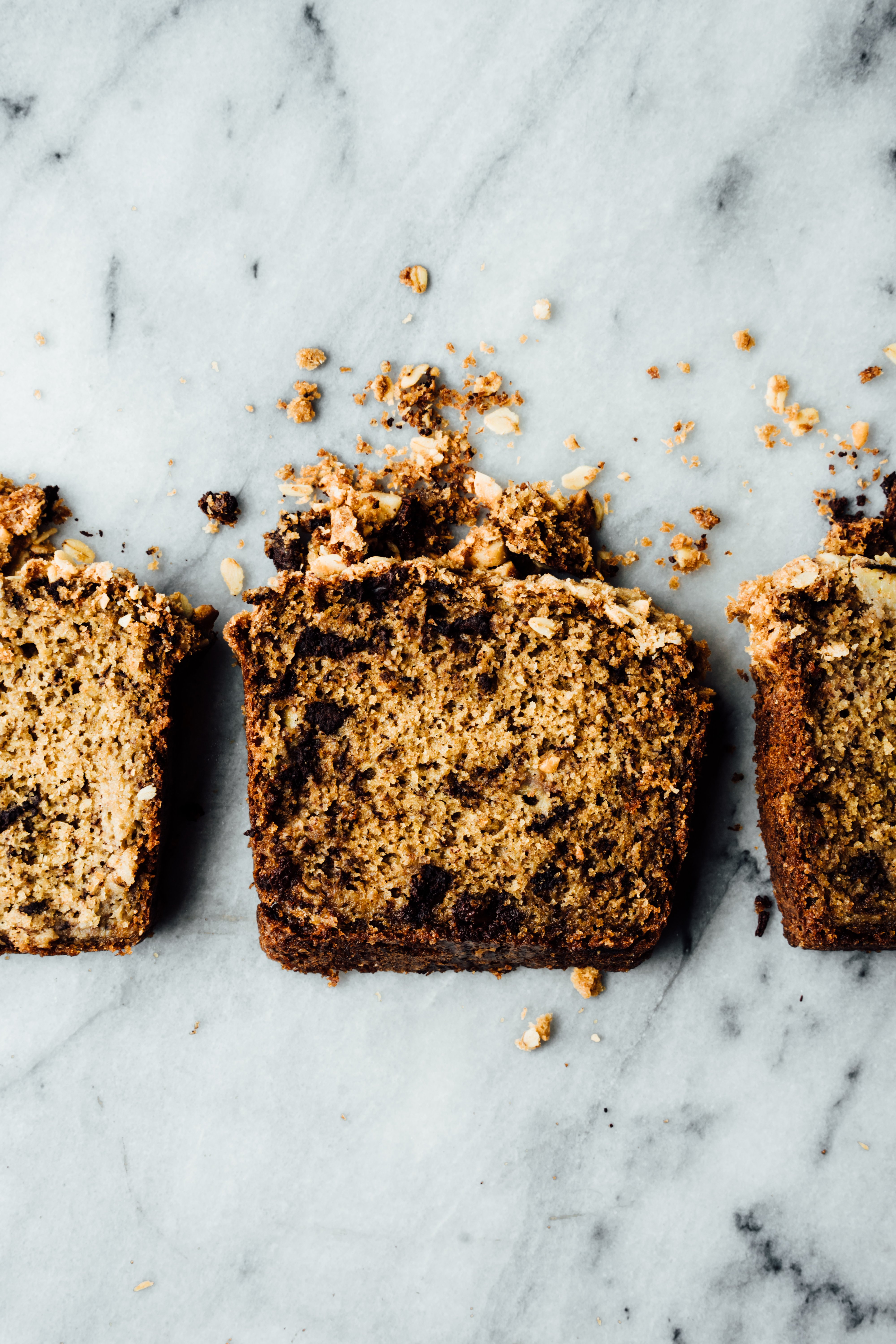 Chocolate Chip Banana Bread with Coconut Macadamia Nut Streusel | TENDING the TABLE