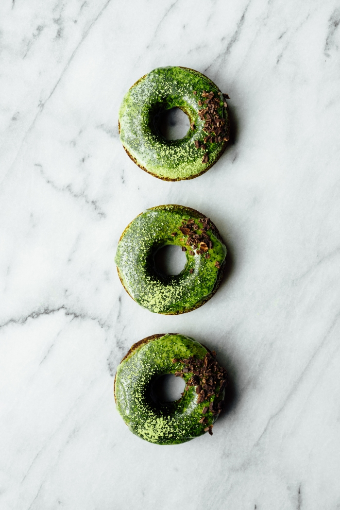 Chocolate Donuts with Matcha Glaze | TENDING the TABLE