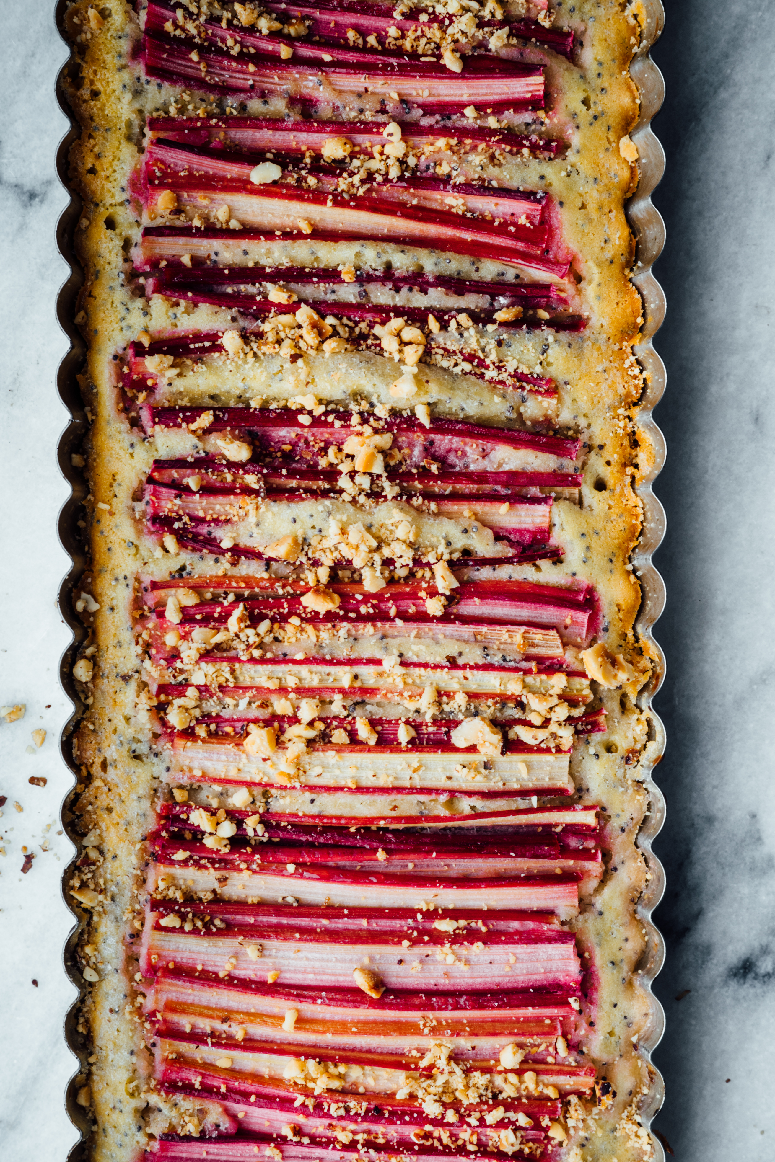 Orange Blossom Water and Poppy Seed Rhubarb Cake | TENDING the TABLE