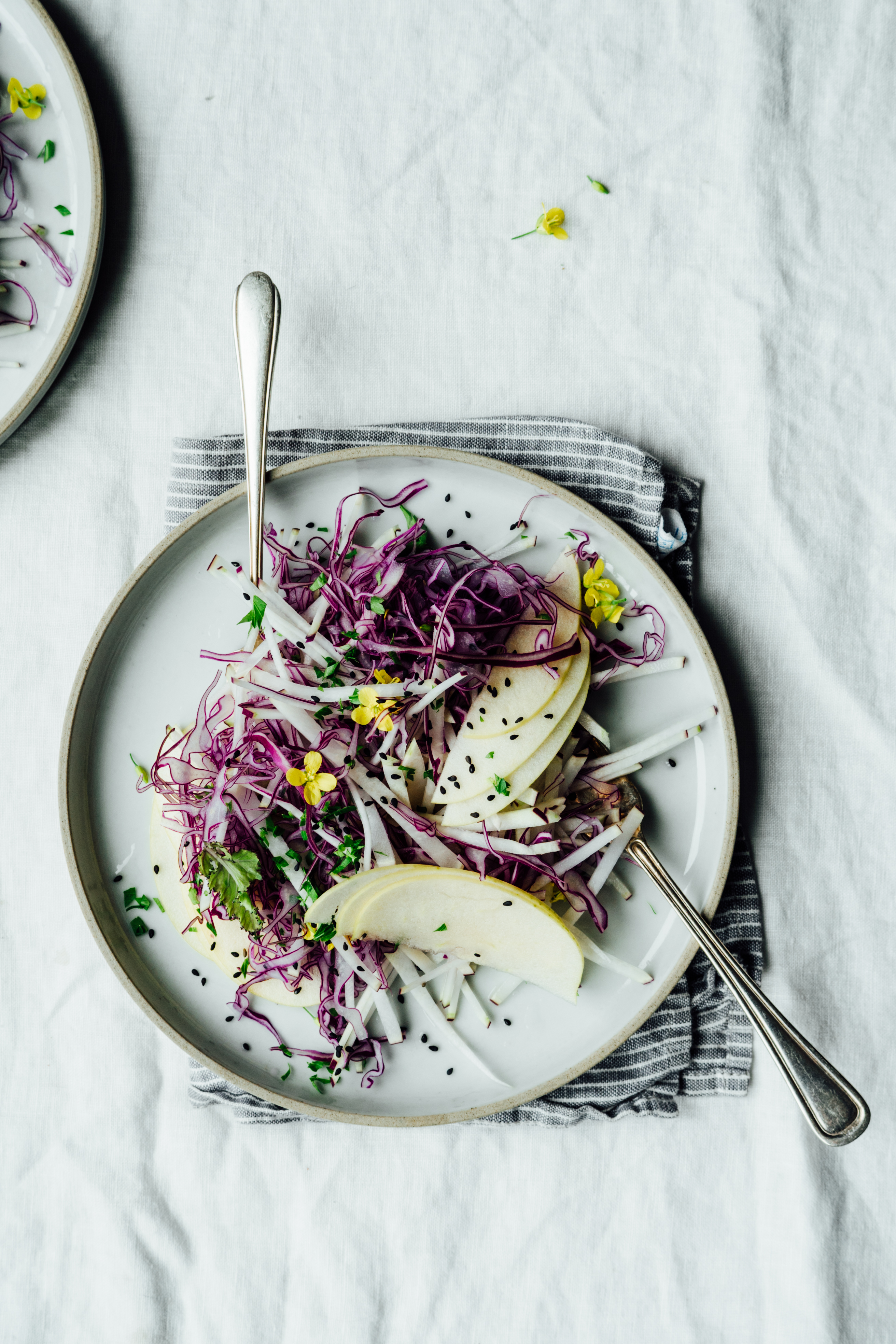 Kohlrabi, Cabbage and Apple Slaw | TENDING the TABLE