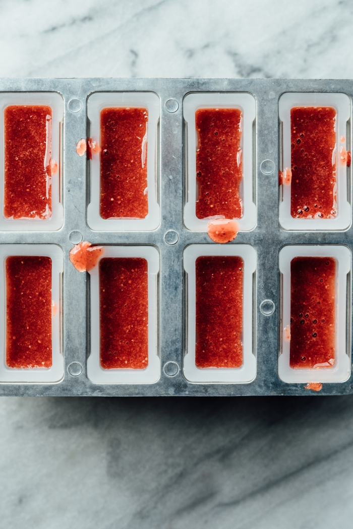 Strawberry Lavender Popsicles | TENDING the TABLE