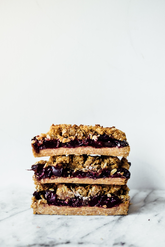 Cherry Almond Oat Bars | TENDING the TABLE
