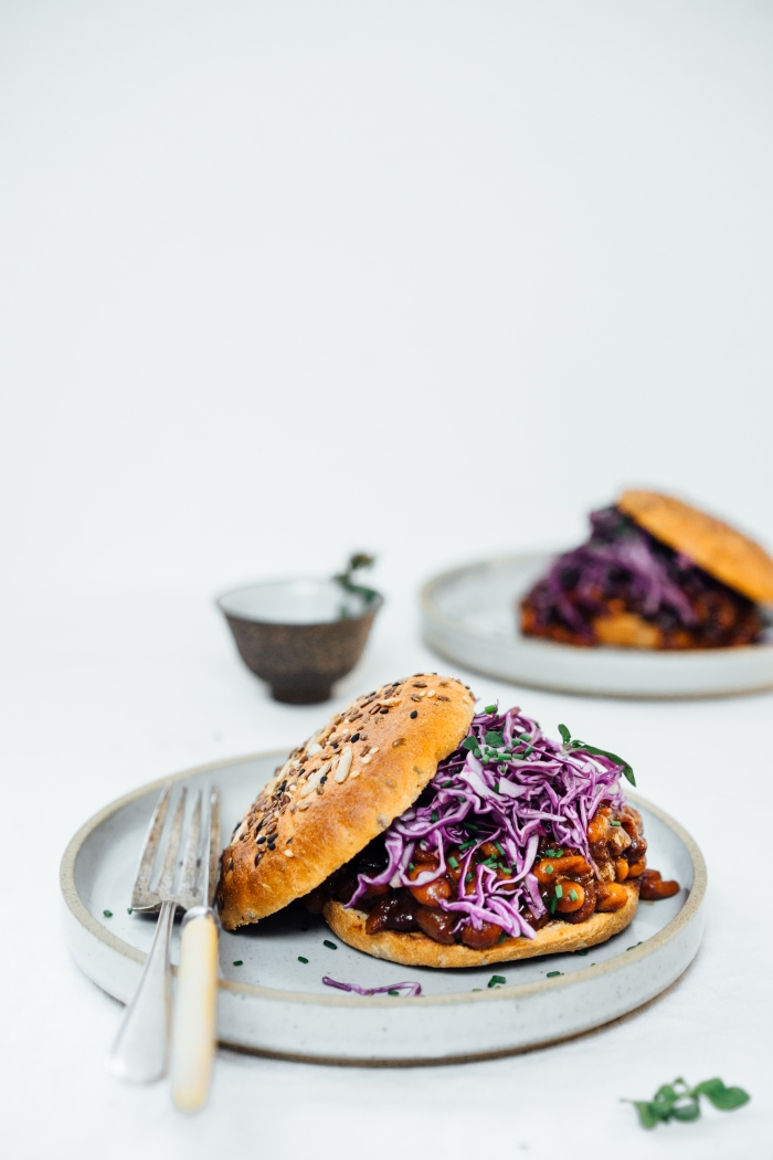 Baked Bean Sliders | TENDING the TABLE