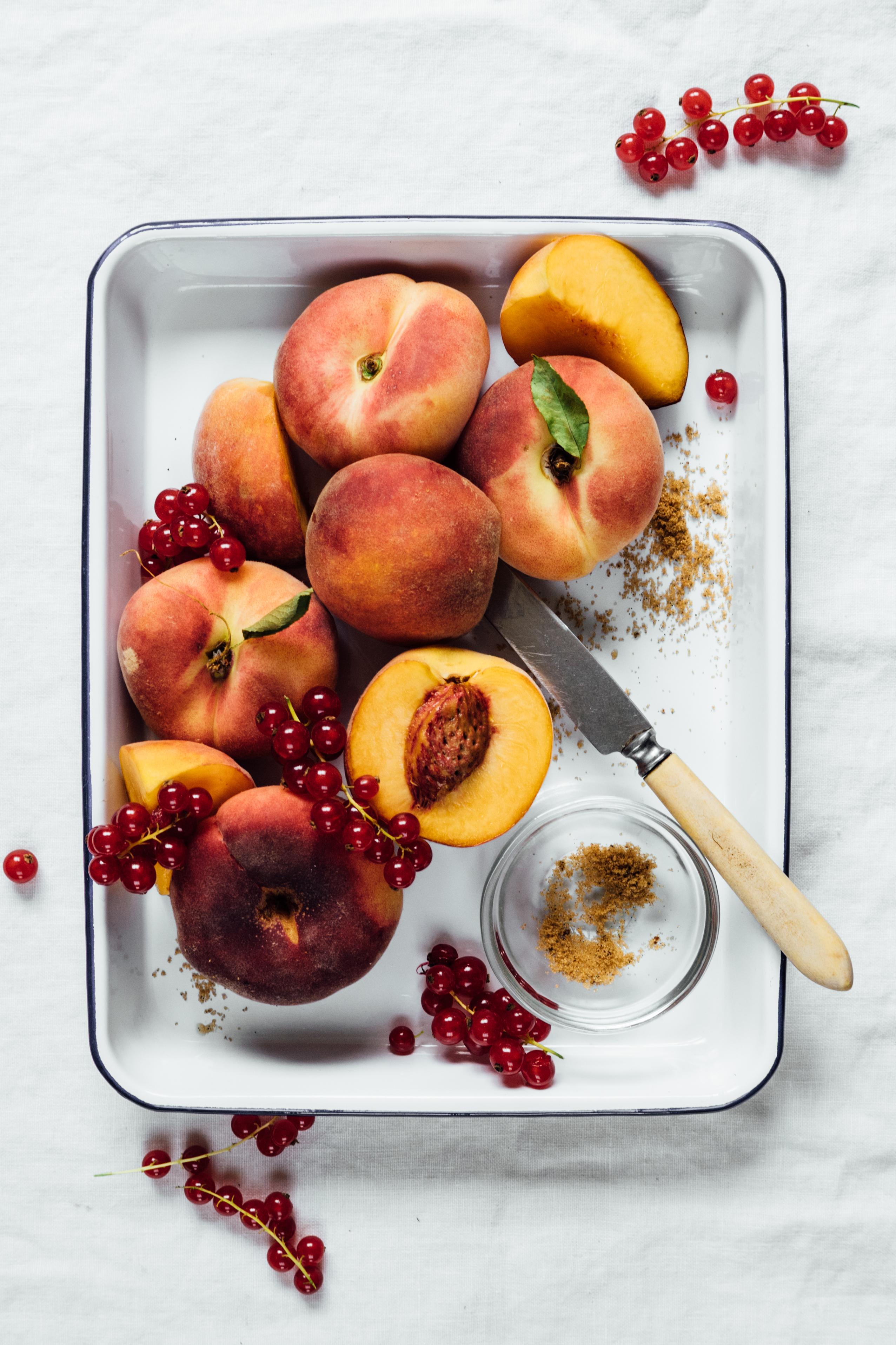 Roasted Peach Sorbet | TENDING the TABLE