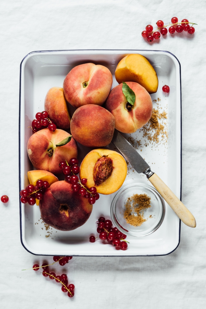 Roasted Peach Sorbet | TENDING the TABLE