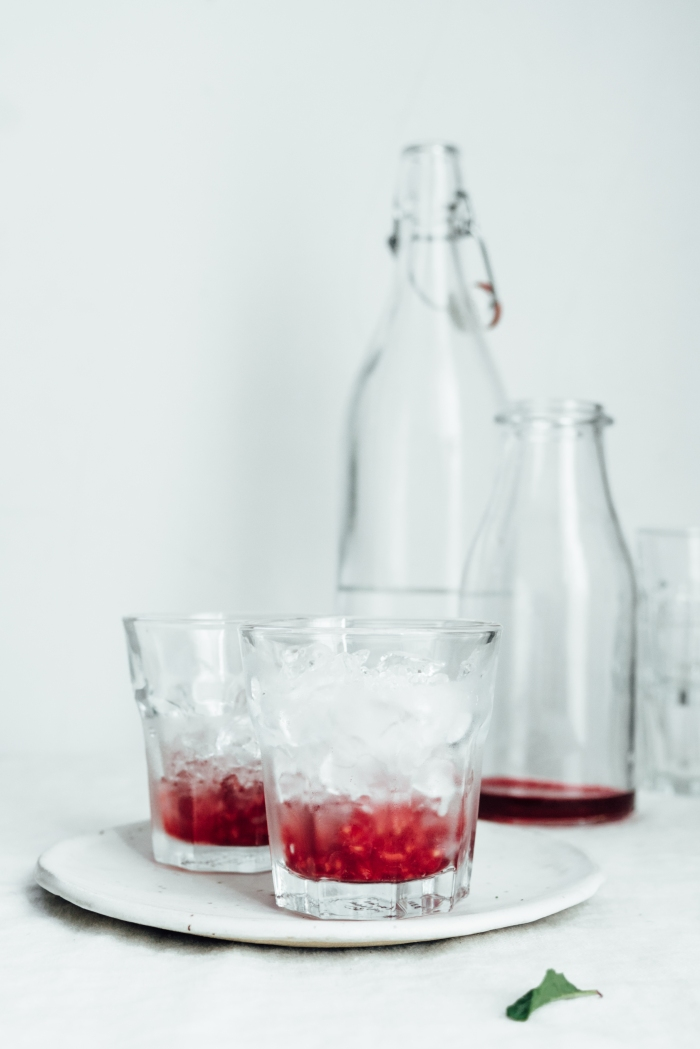 Raspberry and Fig Hibiscus Cooler | TENDING the TABLE