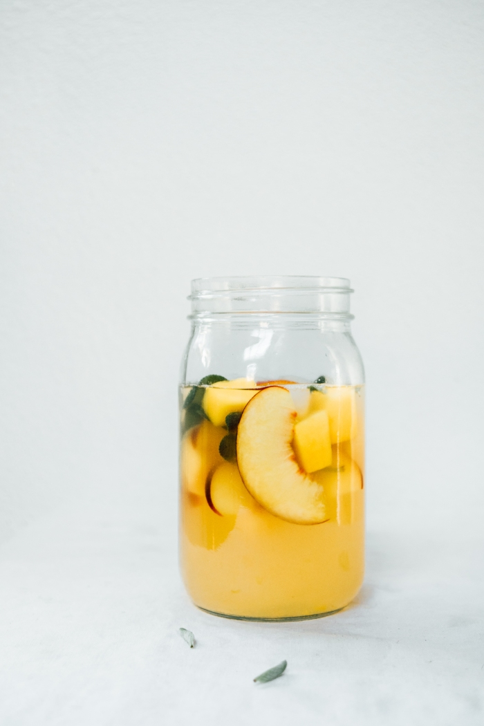 Peach Mango and Sage Lemonade | TENDING the TABLE