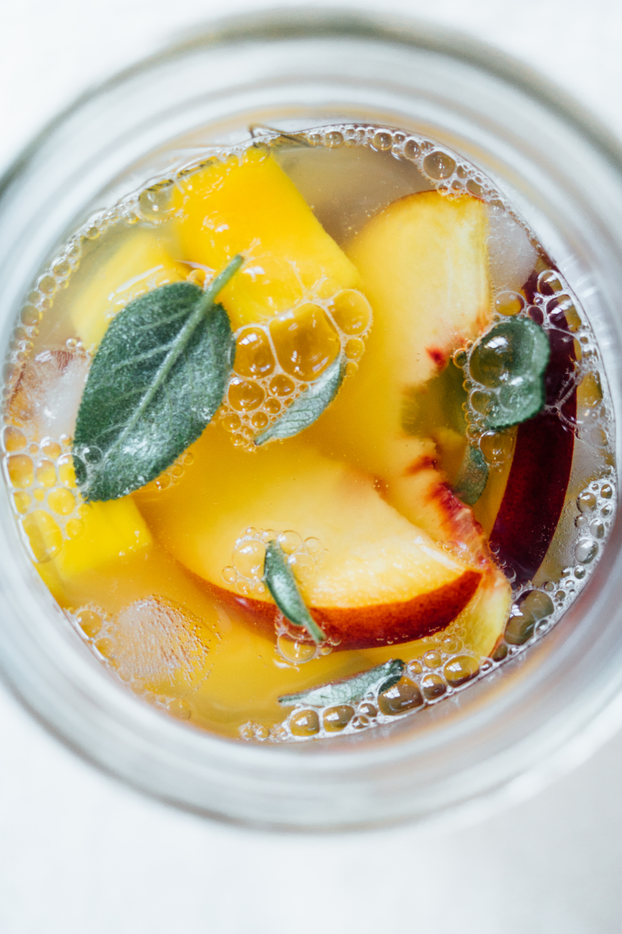 Peach Mango and Sage Lemonade | TENDING the TABLE