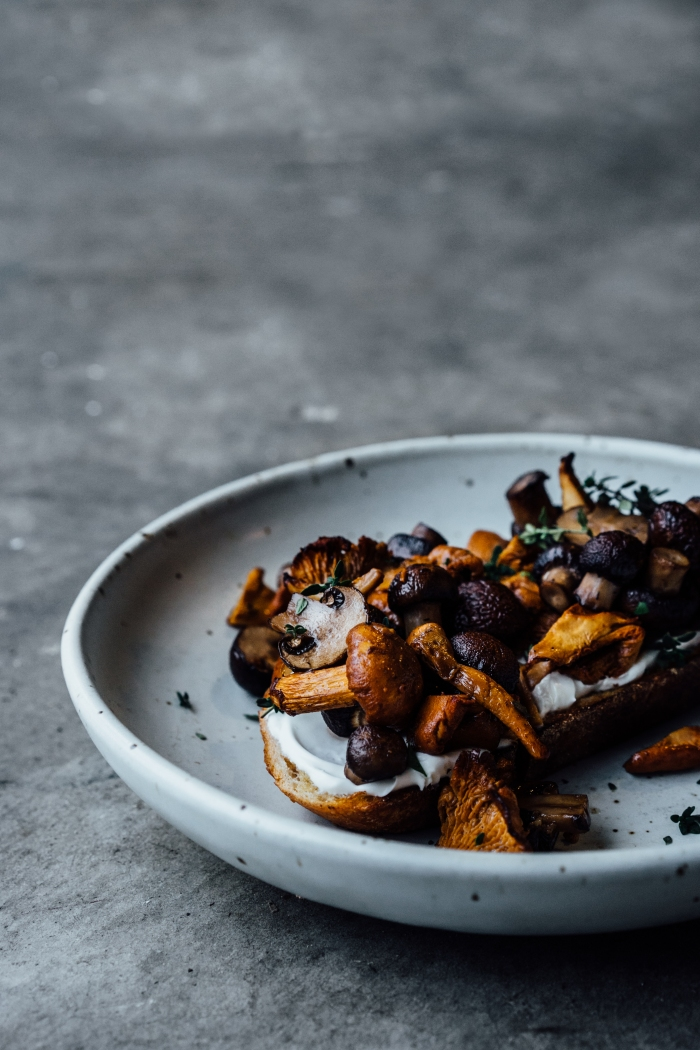 Roasted Mushrooms on Toast | TENDING the TABLE