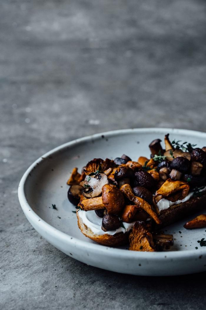 Roasted Mushrooms on Toast | TENDING the TABLE