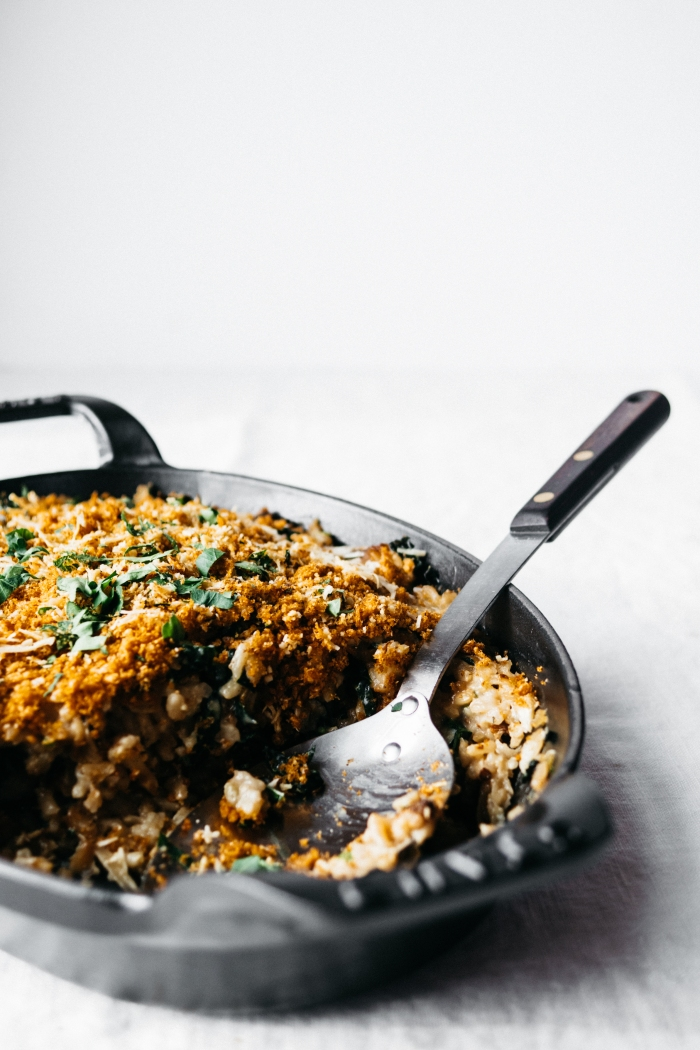 Cauliflower and Kale Gratin | TENDING the TABLE